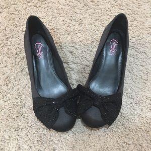 Black shoes girls size 2